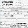 Kenneth Gaburo, Maledetto Antiphony VIII, Pogus, experimental, free form, impro, Aurelio Cianciotta, KennethGaburo_Maledetto.jpg