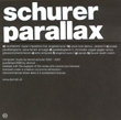 Schurer, Parallax, Domizil, audio art, experimental, free form, microsound, Aurelio Cianciotta, Schurer_Parallax.jpg