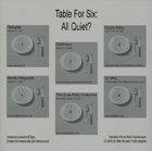AAVV, Table For Six: All Quiet? #3, Various Artists, Neuestrasse, Buio Omega, Stormhat, Substanser, Anemone Tube, Projected Cataclysm, Bruno De Angelis, Every Man Is A Civil War, Frans de Waard, Wortel (Root), (ad)vance(d), Ambience #01 Electric Potatoes, Electronic, Ambient, dark, experimental, Aurelio Cianciotta, AAVV---Table-For-Six.jpg
